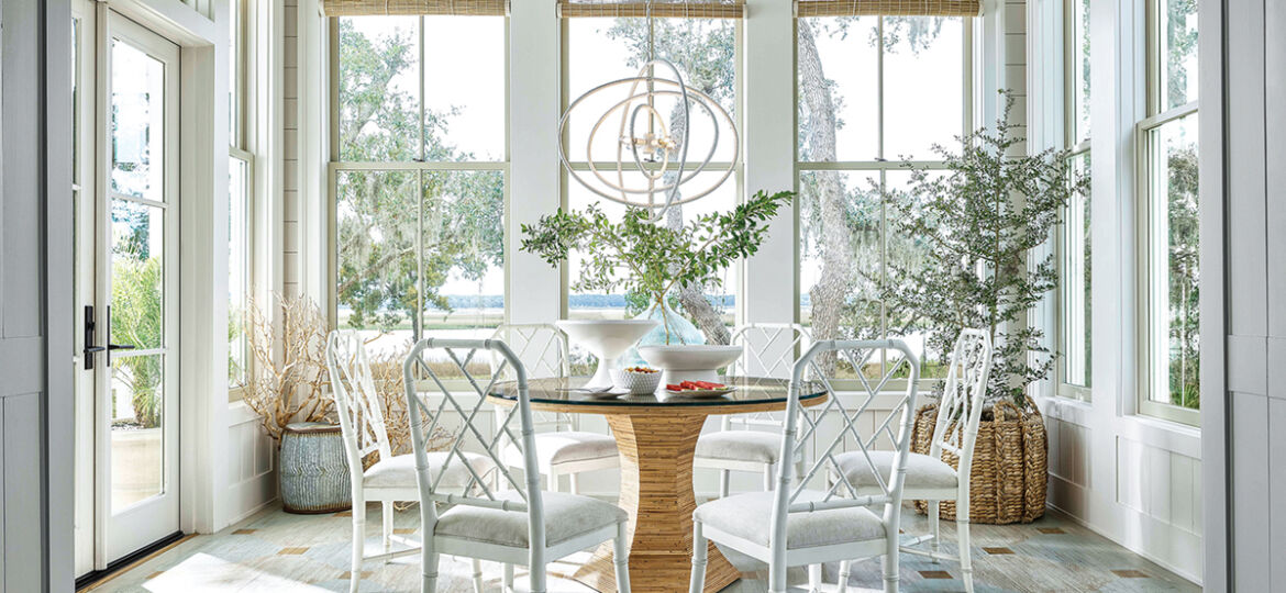 Nantucket Round Dining Table from Universal Furniture pictured in a sunny breakfast room