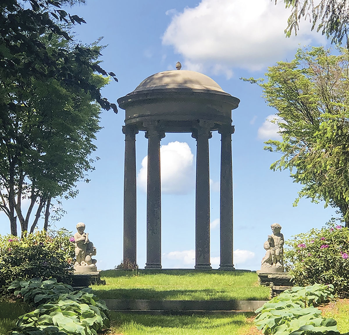 tempietto set against a blue sky at Wethersfield