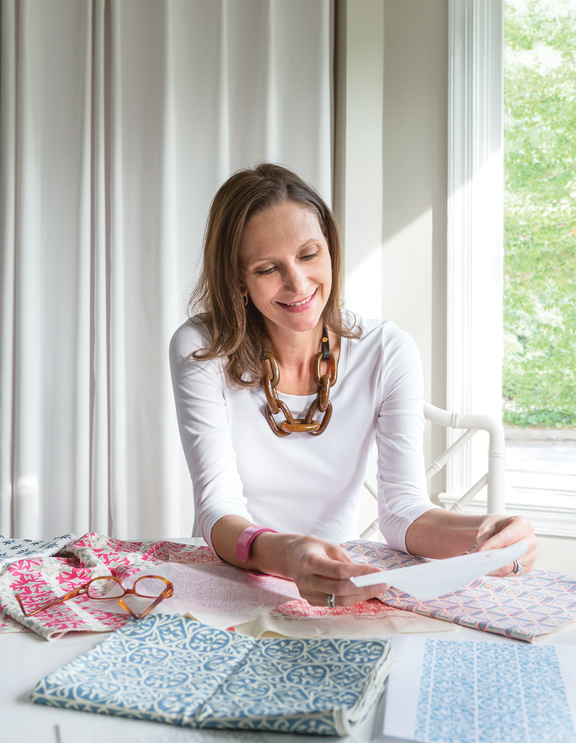 portrait of the founder of Marika Meyer Textiles
