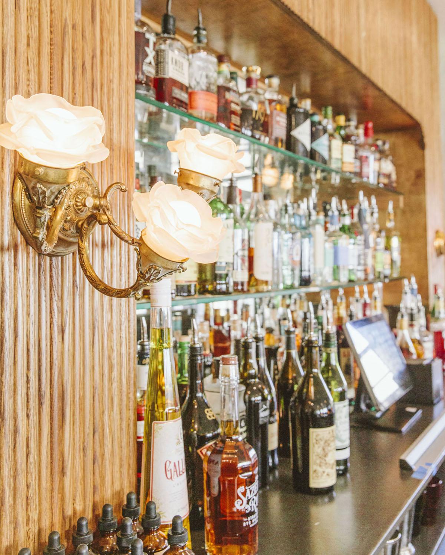 the bar at Elvie's restaurant in Jackson, MS