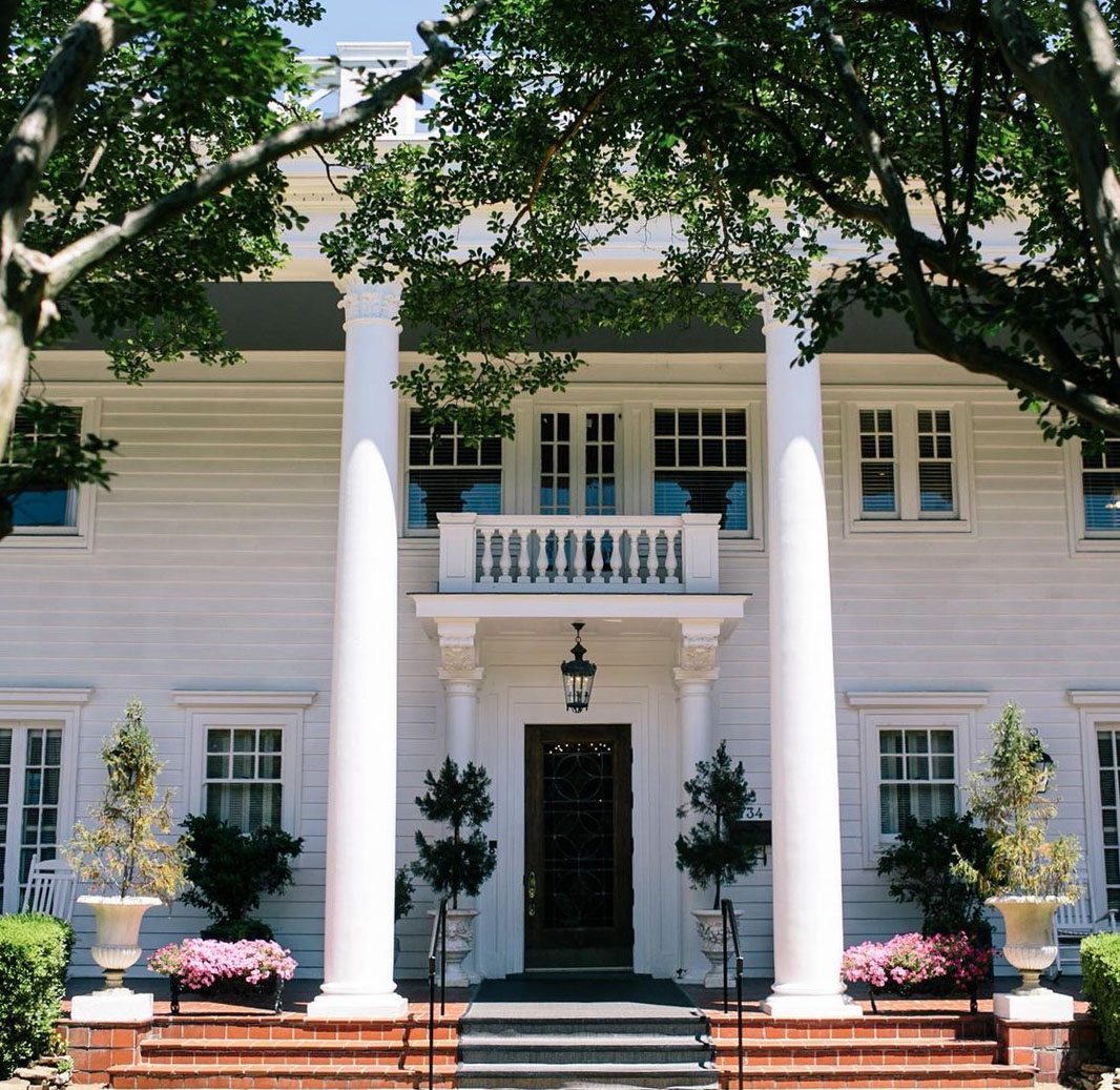 facade of the Fairview Inn, a historic building and boutique hotel in Jackson Mississippi