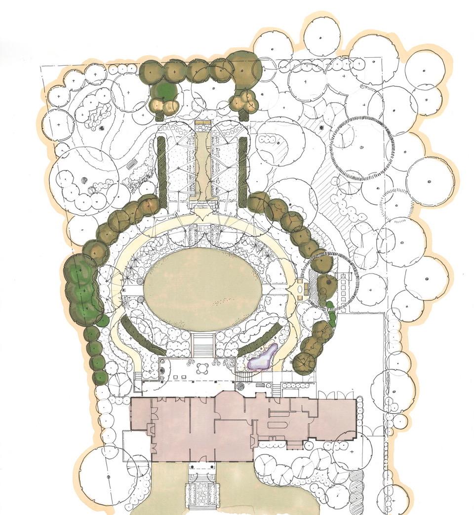 garden plan by Mary Walton
