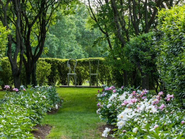 Formal gardens at Ashleigh, 2021 Historic Garden Week of Virginia