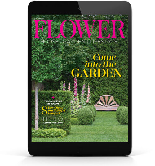 digital Flower magazine May June 2021 cover displayed on a tablet