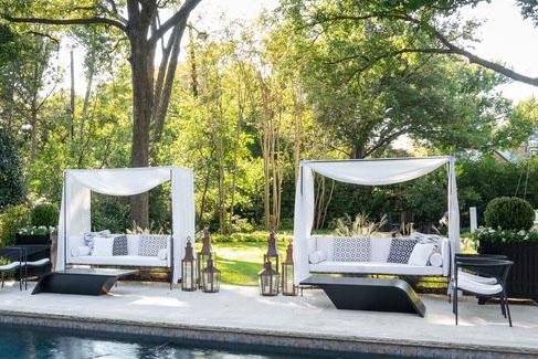 poolside daybeds, Kips Bay Dallas 2020