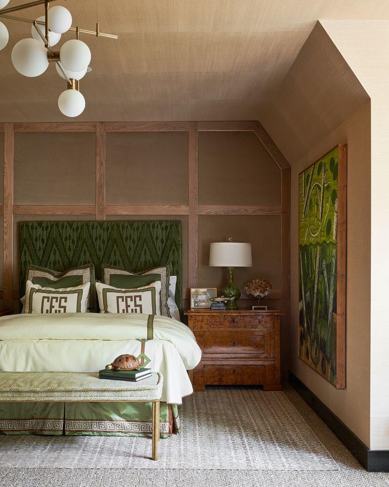 green and neutral boys bedroom at Kips Bay Dallas