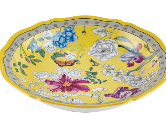 yellow home accessory - porcelain dish