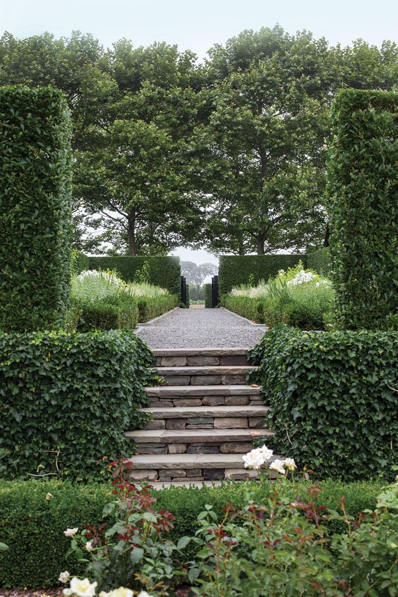 sunken garden, landscape architecture by Quincy Hammond
