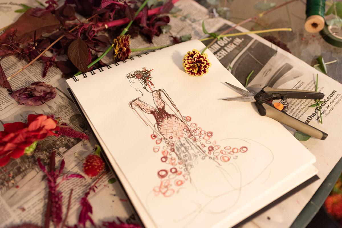 American Flowers Week 2021, design sketch