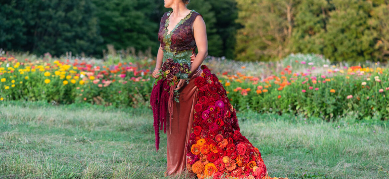 American Flowers Week 2021, floral couture