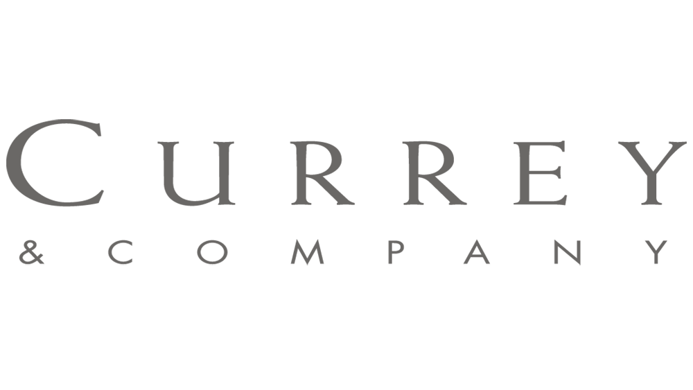 Currey and Company logo, 2021 Flower magazine showhouse sponsor for lighting and decor