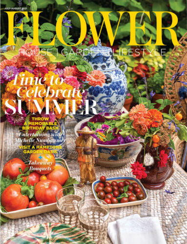 Flower magazine 2021 July August cover