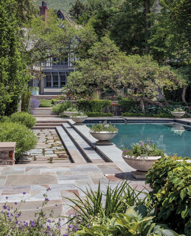 pool, hardscaping, landscape design