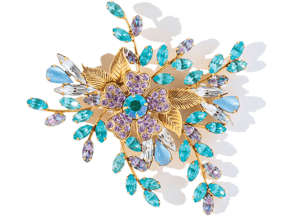 floral brooch by Lauren Hope, costume jewelry