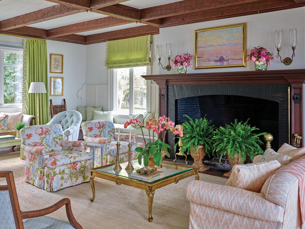 living room designed by Meg Braff