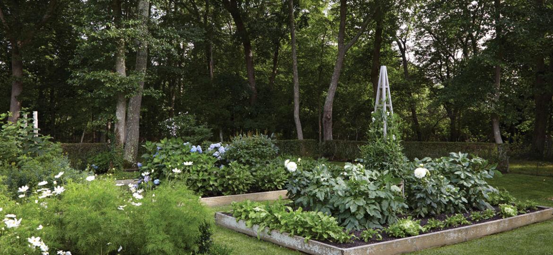 vegetable garden parterre, Lisa Bynon Hamptons garden