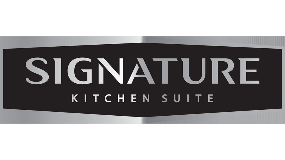 Signature Kitchen Suite logo, 2021 Flower magazine showhouse sponsor for appliances