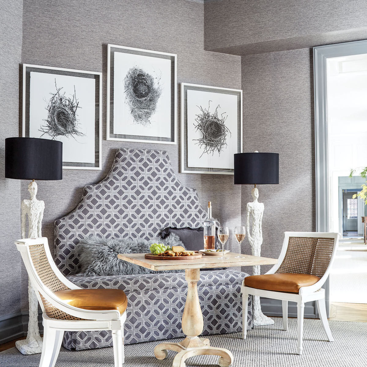 banquette with table and chairs