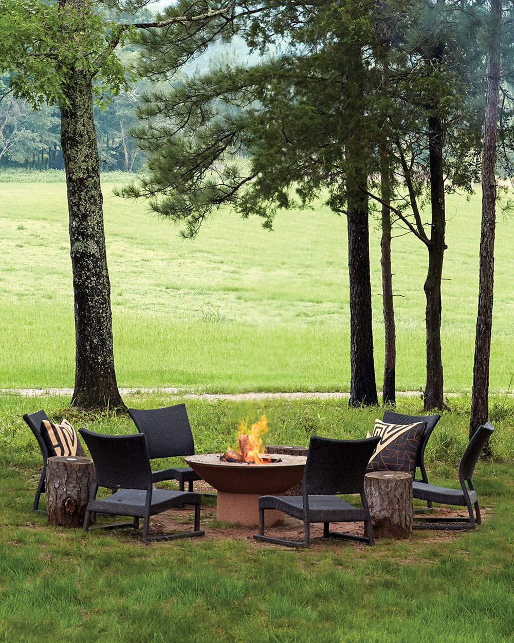 Arteflame firepit and chairs