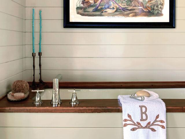 en suite soaking tub, Flower magazine showhouse at Brierfield
