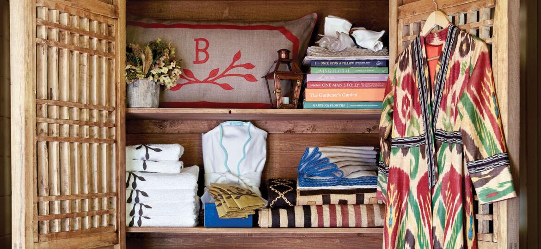 freestanding wardrobe and linen closet