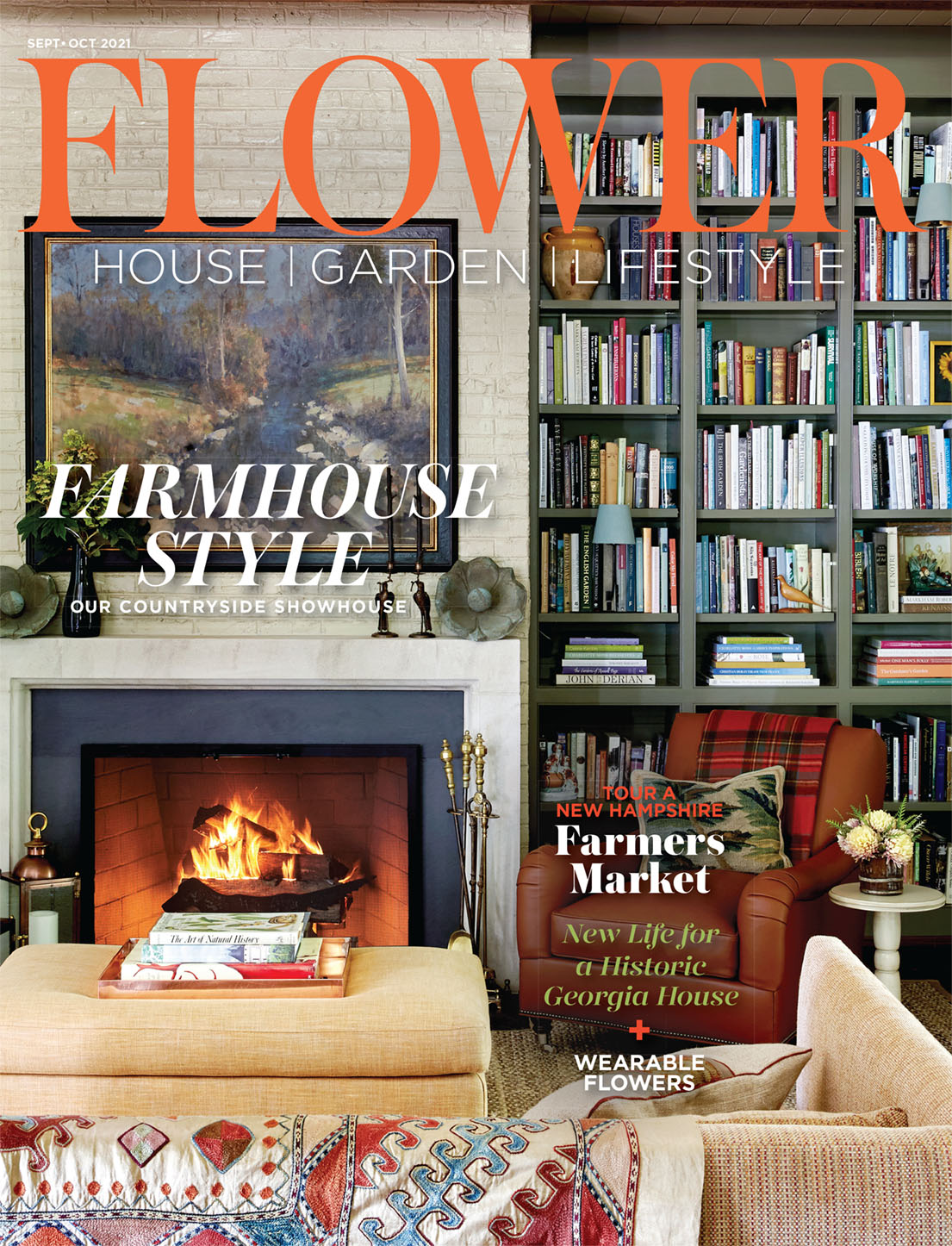 On the Cover: The inviting living room at Brierfield Farm, our countryside showhouse, exudes warm and comfort with a palette that takes its cue from the surrounding setting. Photographed by David Hillegas.