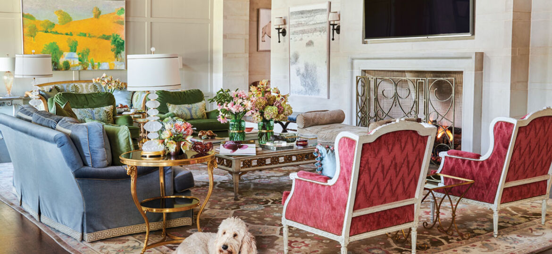 living room by interior designer Trish Sheats