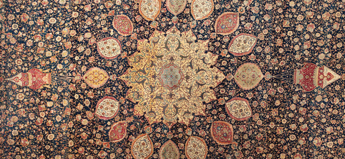 Ardabil Carpet, an ornate rug pattern from the Safavid dynasty